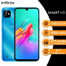 "Infinix Smart HD (2GB 32GB) Ecran 6.1"" Sunlight Screen DTS Audio Processing + Yo-Party 5000mAh Topaz Blue"